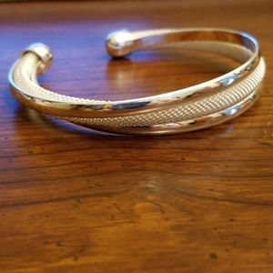 Unique Silver Bangle Bracelet